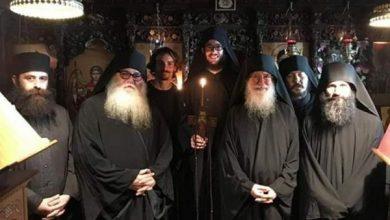 Photo of Γέροντες από το Άγιο Όρος στην Μονή Αγίου Νεοφύτου